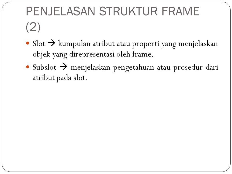 PENJELASAN STRUKTUR FRAME (3) • Subslot dapat berbentuk : a.