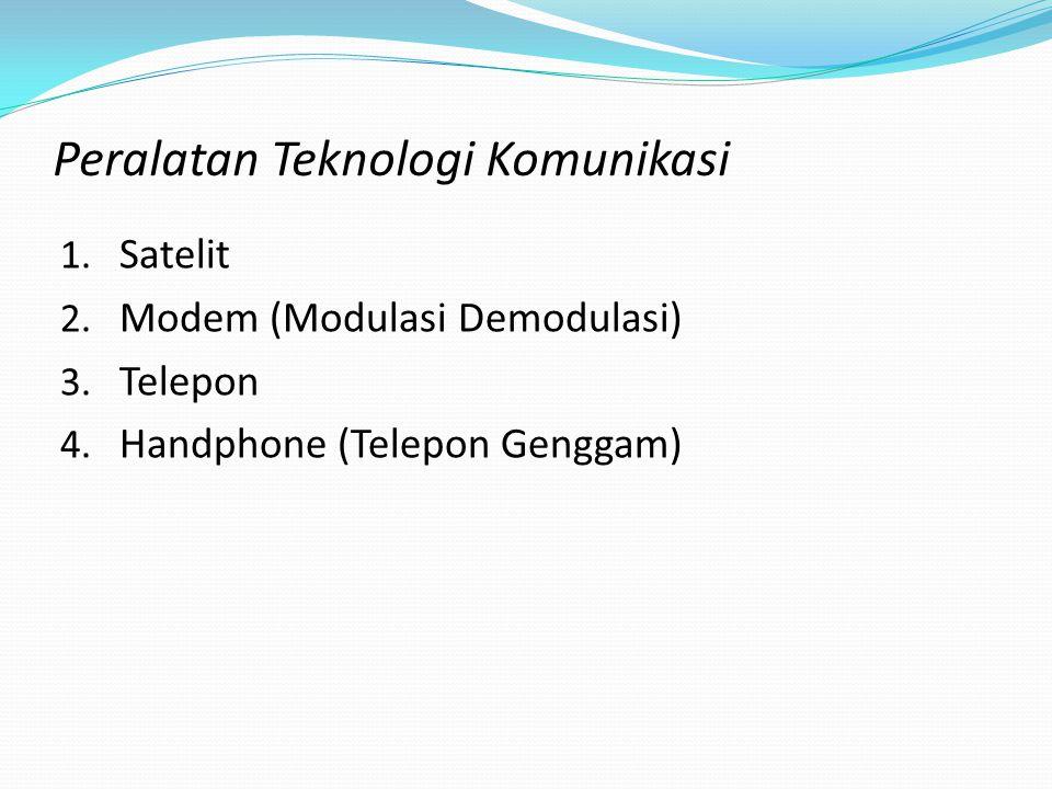 Fasilitas di Internet: 1. Electronic mail (E-Mail) 2. Mailing list 3. Newsgroup 4. World wide web (Web) 5. Telnet (telecommunications networking) 6. F