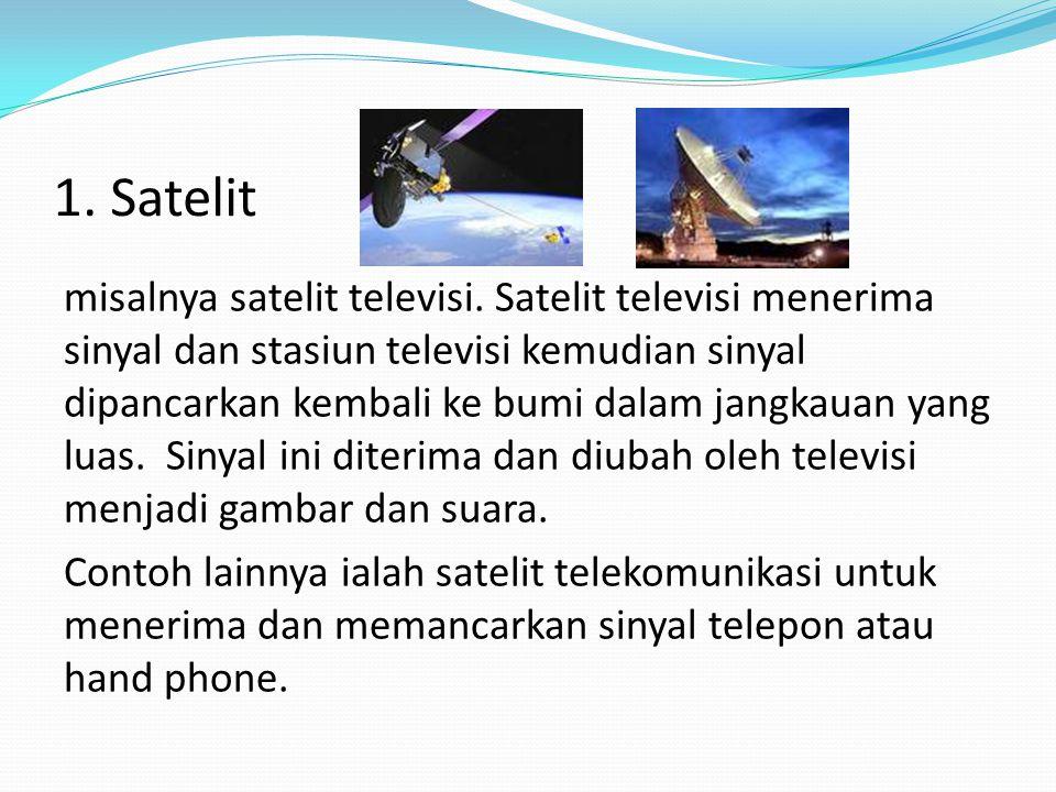 Peralatan Teknologi Komunikasi 1. Satelit 2. Modem (Modulasi Demodulasi) 3. Telepon 4. Handphone (Telepon Genggam)