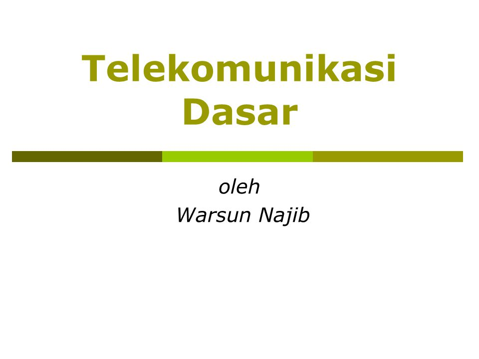 2 Pendahuluan  The Goal of communication is to deliver information from one place to other place.