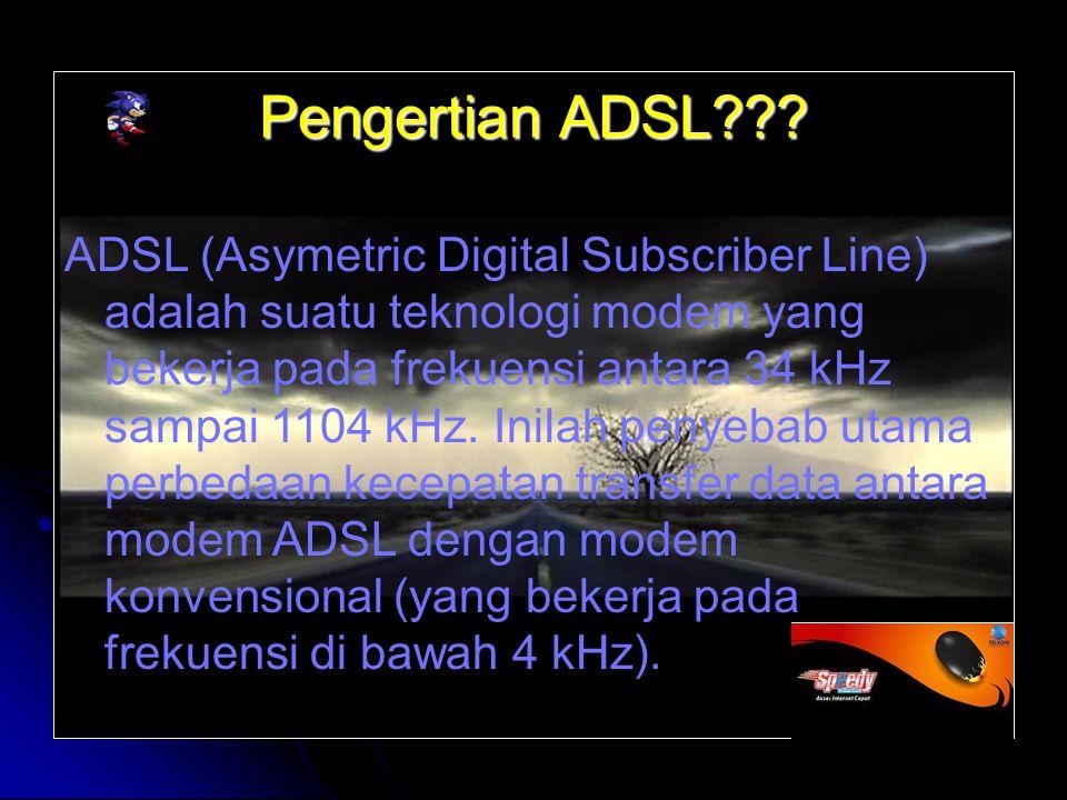 Panduan instalasi Dial Up koneksi ADSL menggunakan Windows Xp: 1.
