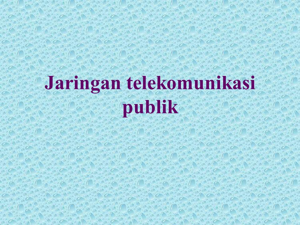 Jaringan telekomunikasi publik