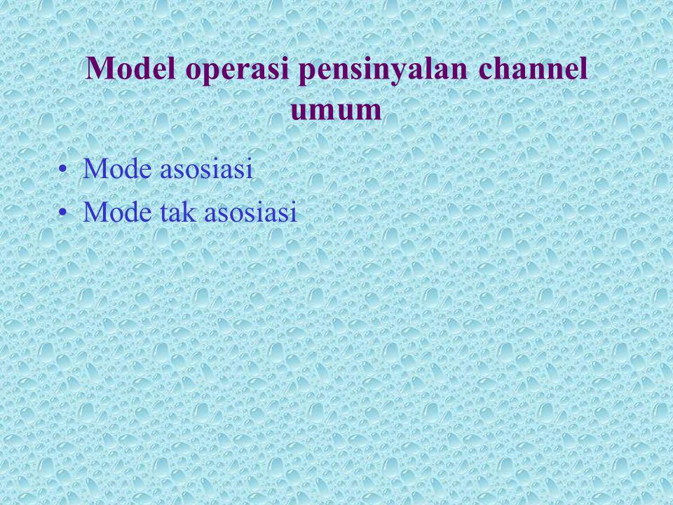 Model operasi pensinyalan channel umum •Mode asosiasi •Mode tak asosiasi