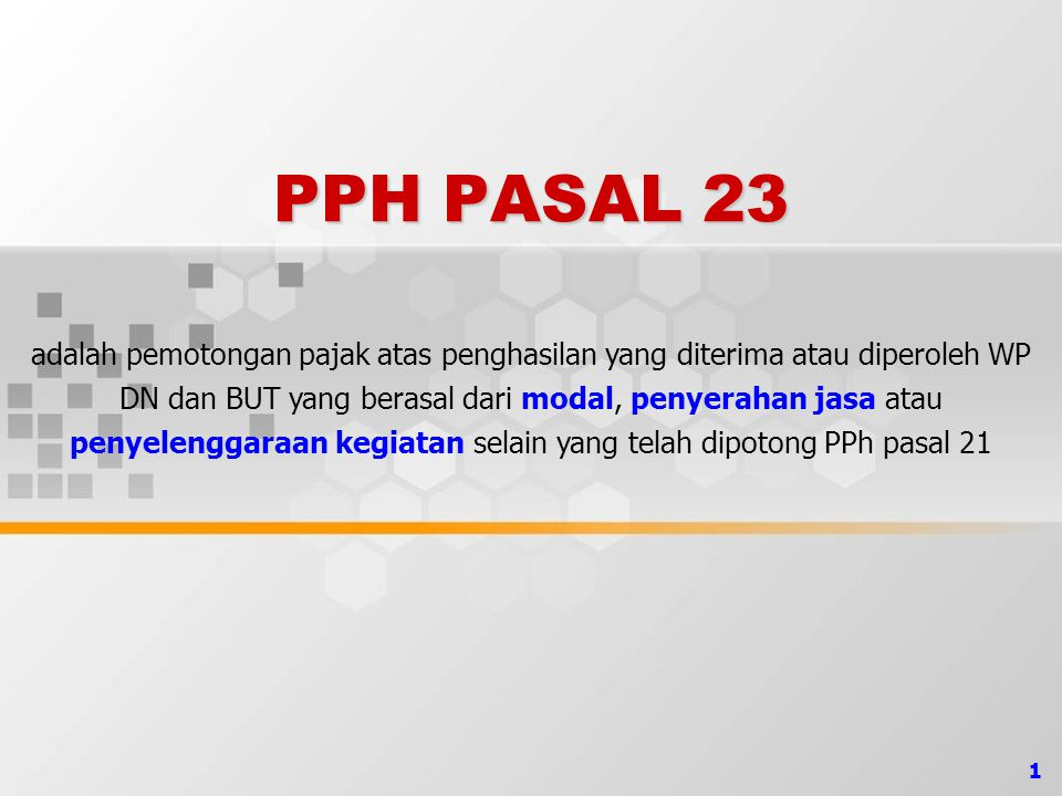 12 PPh PASAL 26 …(1) OBJEK PAJAK PPH PASAL 26 (20% x Penghasilan Bruto): Dividen.