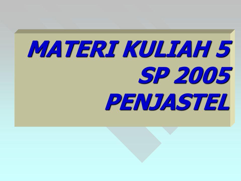 MATERI KULIAH 5 SP 2005 PENJASTEL