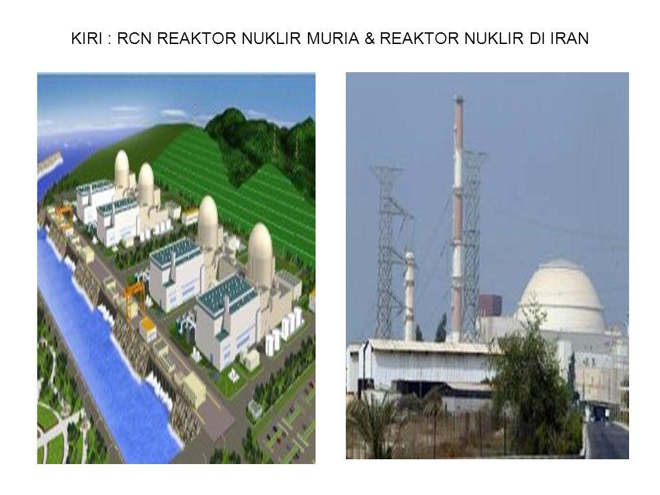 KIRI : RCN REAKTOR NUKLIR MURIA & REAKTOR NUKLIR DI IRAN