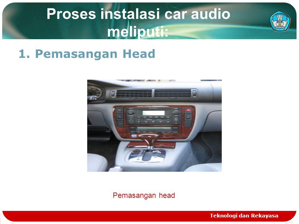 Proses instalasi car audio meliputi: 1.Pemasangan Head Teknologi dan Rekayasa Pemasangan head