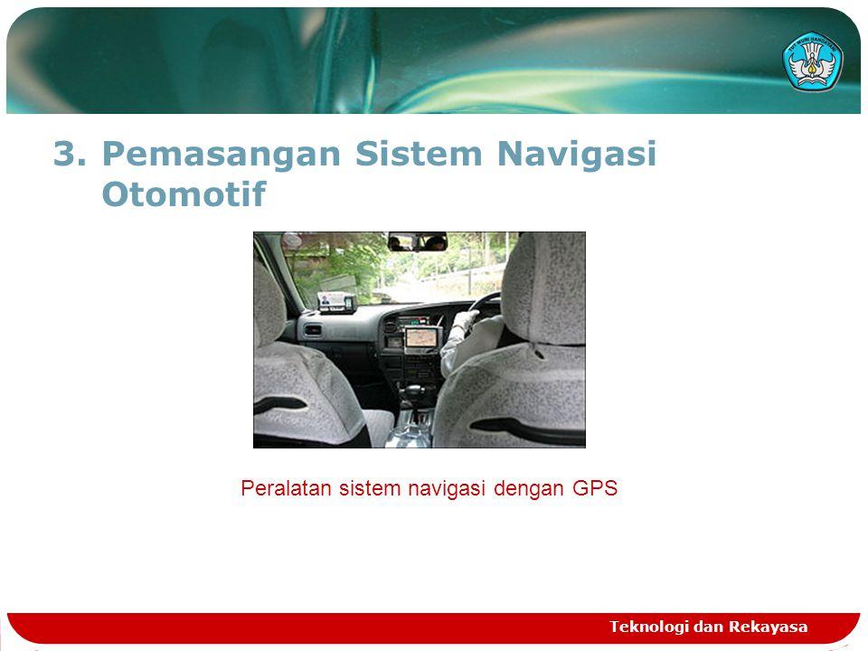 3.Pemasangan Sistem Navigasi Otomotif Teknologi dan Rekayasa Peralatan sistem navigasi dengan GPS