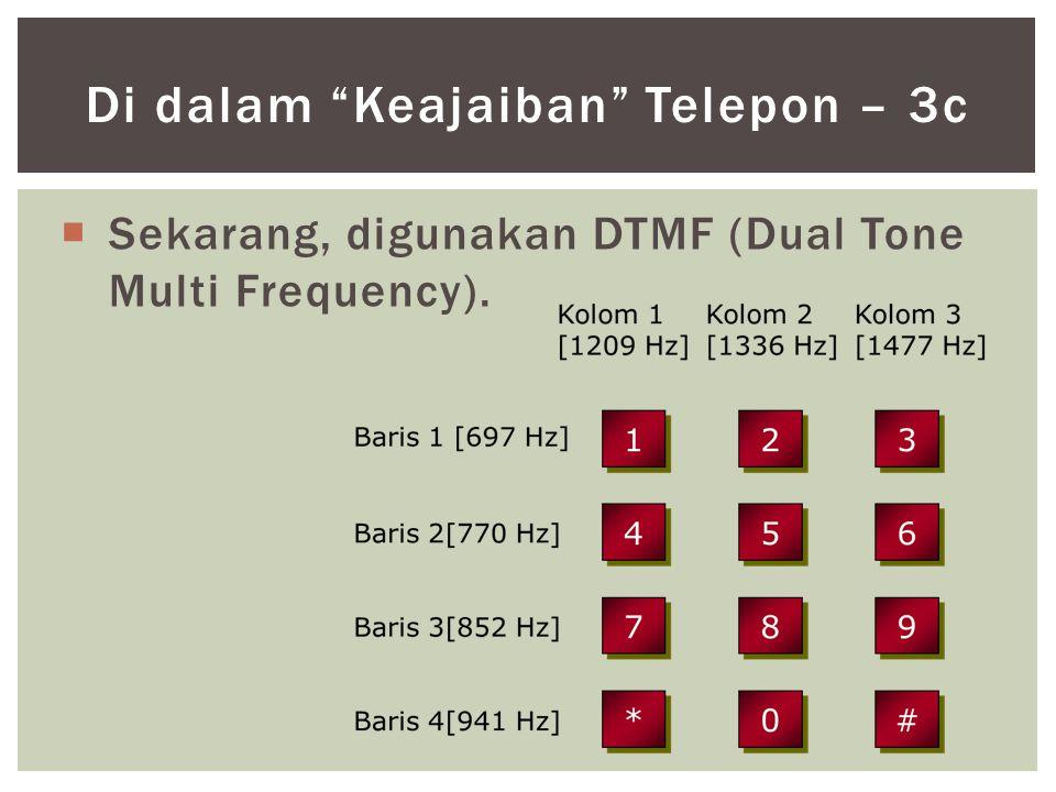 """ Sekarang, digunakan DTMF (Dual Tone Multi Frequency). Di dalam """"Keajaiban"""" Telepon – 3c"""