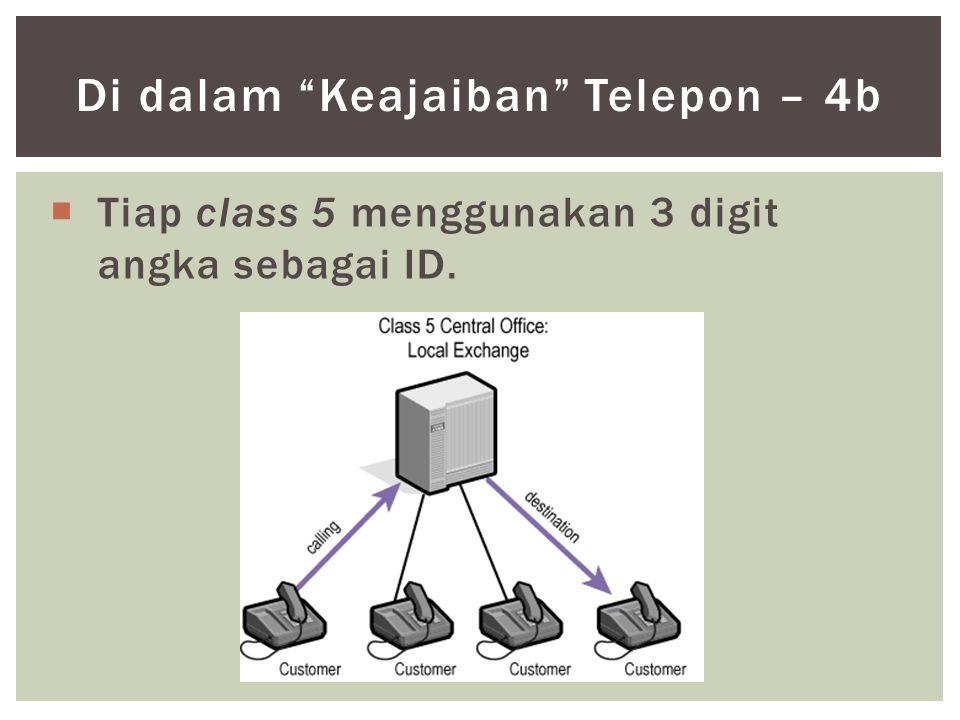 " Tiap class 5 menggunakan 3 digit angka sebagai ID. Di dalam ""Keajaiban"" Telepon – 4b"