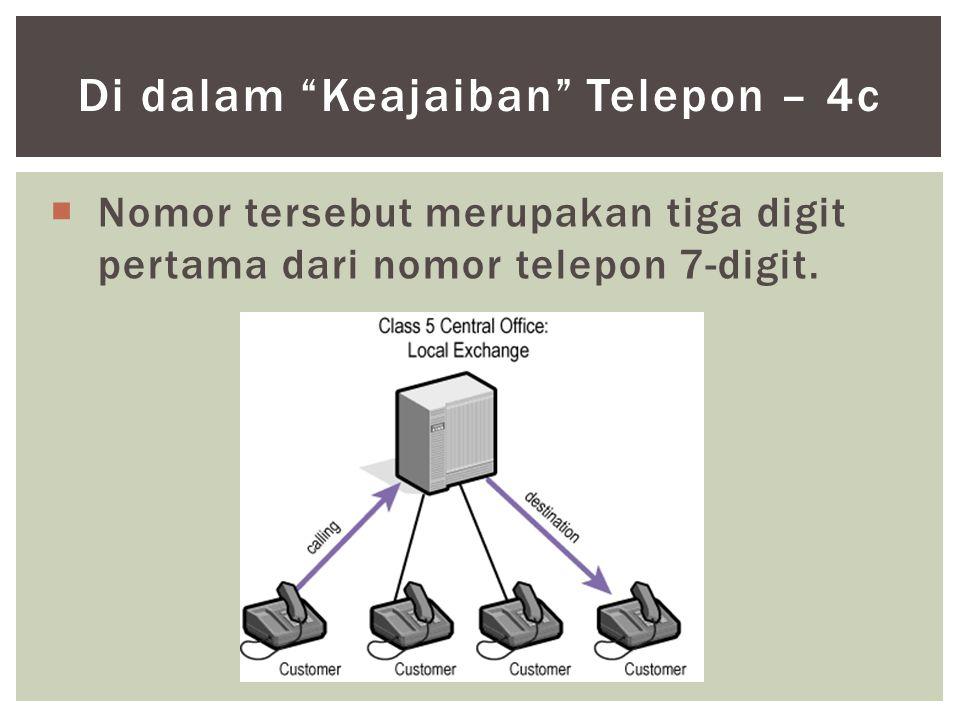 """ Nomor tersebut merupakan tiga digit pertama dari nomor telepon 7-digit. Di dalam """"Keajaiban"""" Telepon – 4c"""
