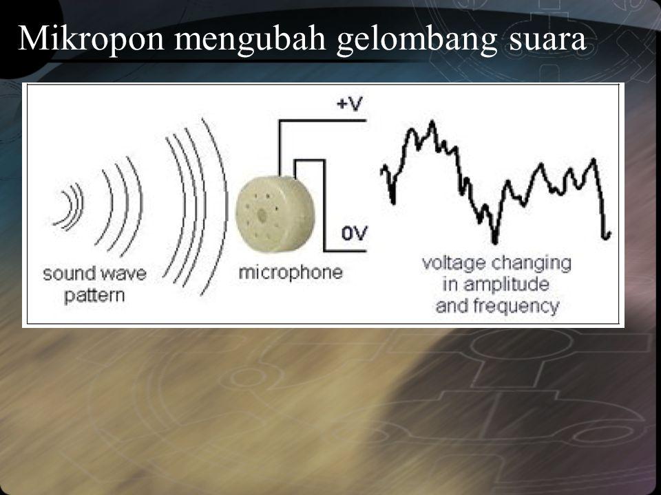 Mikropon mengubah gelombang suara