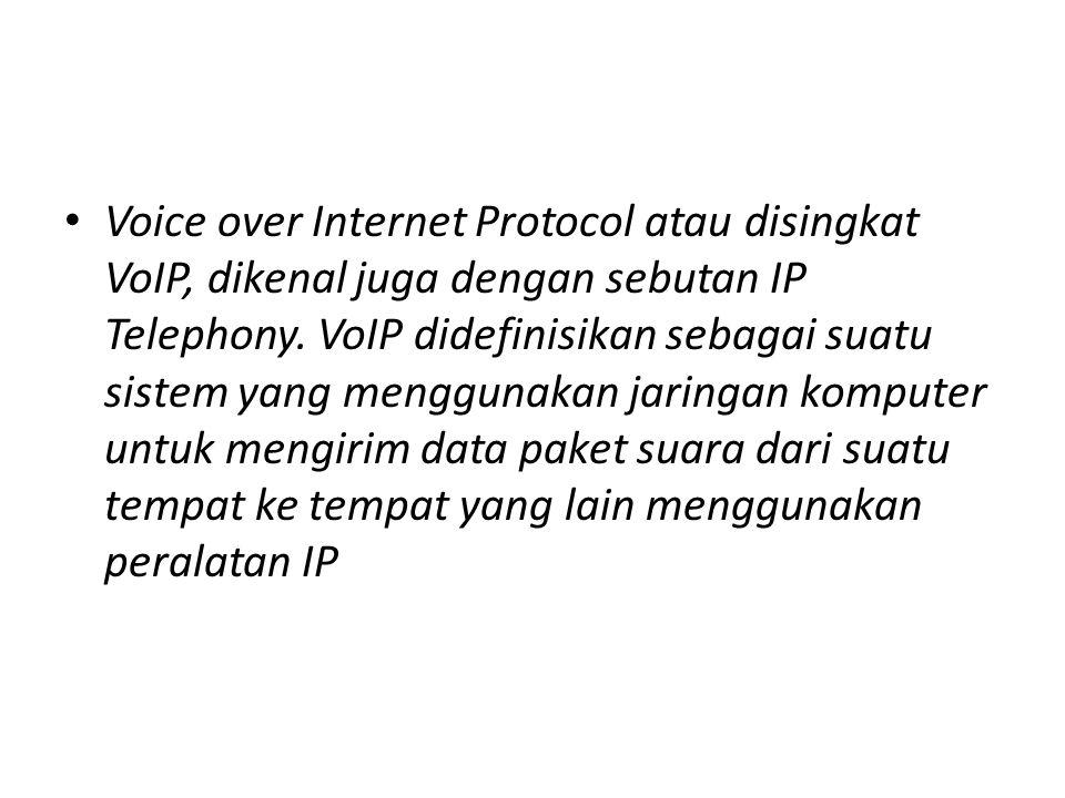 • Perbedaan VOIP dengan telepon tradisional adalah masalah infrastrukturnya, jika VoIP menggunakan jaringan komputer sedangkan telepon tradisional menggunakan infrastruktur telepon yang sudah dibangun lebih awal.