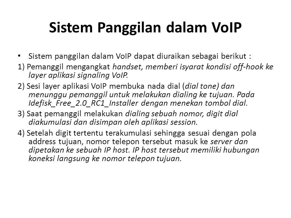 5) Aplikasi session selanjutnya membentuk transmisi dan channel penerimaan untuk masing-masing arah jaringan IP.