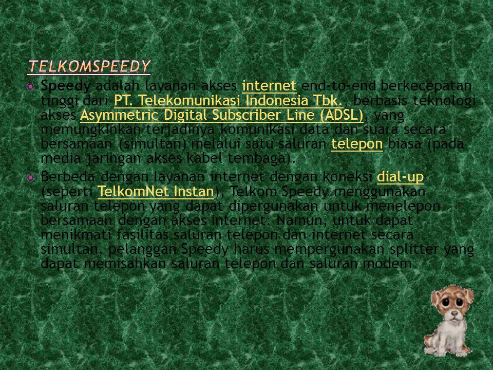  Selain memberikan koneksi ke layanan ADSL, beberapa modem juga mempunyai fungsi tambahan lain seperti: 1. Dukungan pada ADSL2 atau ADSL2+ADSL2ADSL2+