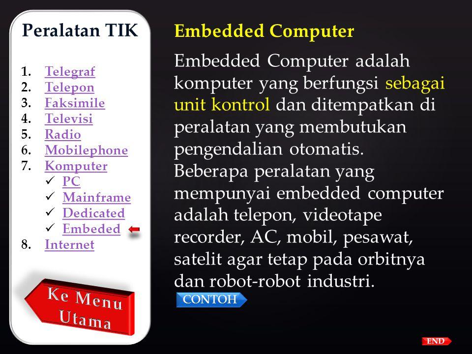 Dedicated Computer adalah komputer yang dibuat untuk tujuan tertentu, contoh vide game untuk permainan yang dilengkapi dengan joystict dan tombol-tomb