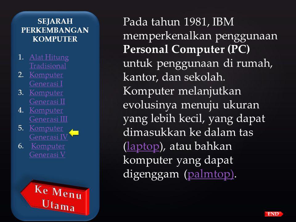  Chip Intel 4004 yang dibuat pada tahun 1971 membawa kemajuan pada IC dengan meletakkan seluruh komponen dari sebuah komputer (central processing uni