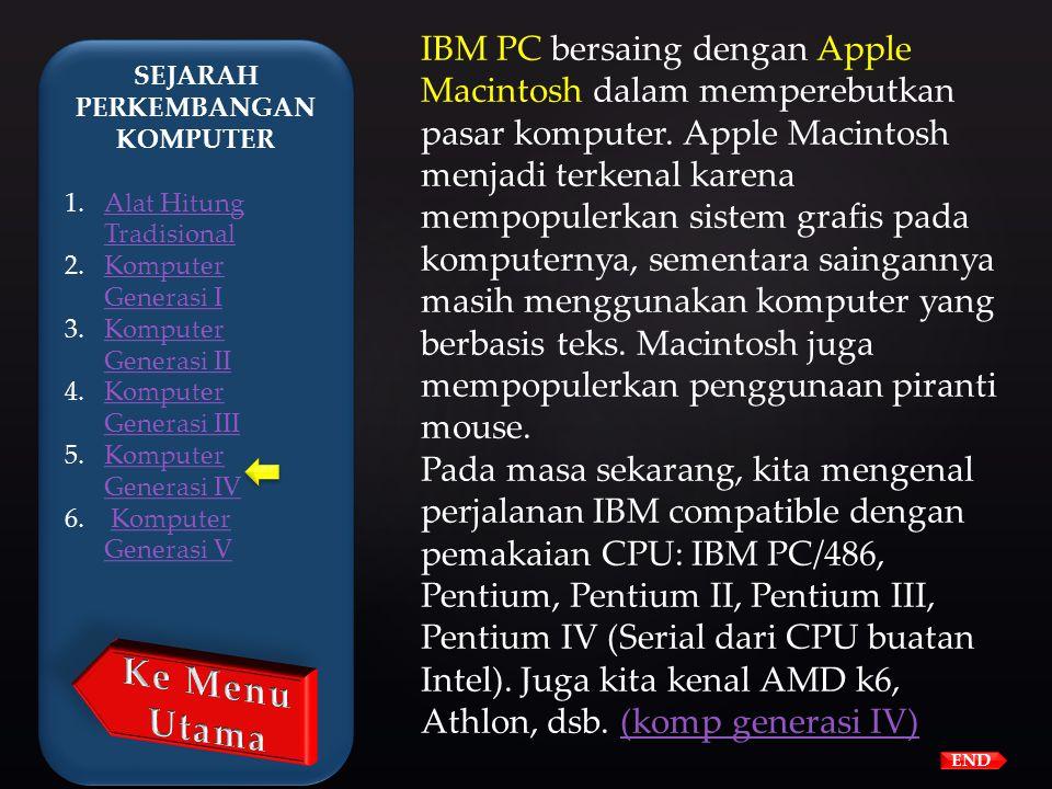 Pada tahun 1981, IBM memperkenalkan penggunaan Personal Computer (PC) untuk penggunaan di rumah, kantor, dan sekolah. Komputer melanjutkan evolusinya