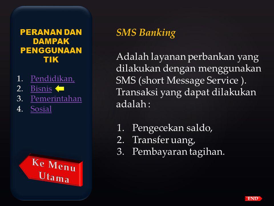 Keuntungan internet banking bagi nasabah : 1.Menghemat waktu, karena tidak perlu ke bank untuk melakukan transaksi 2.Menghemat biaya, karena transport