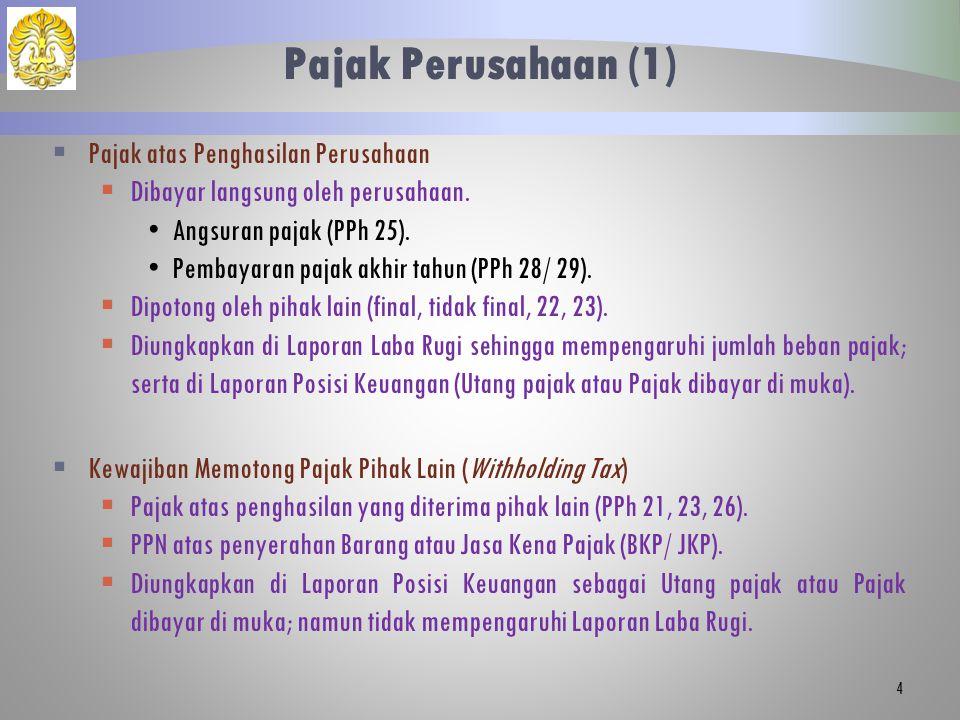 Pajak Perusahaan (2)  Pajak Lainnya  PPN  PPnBM.