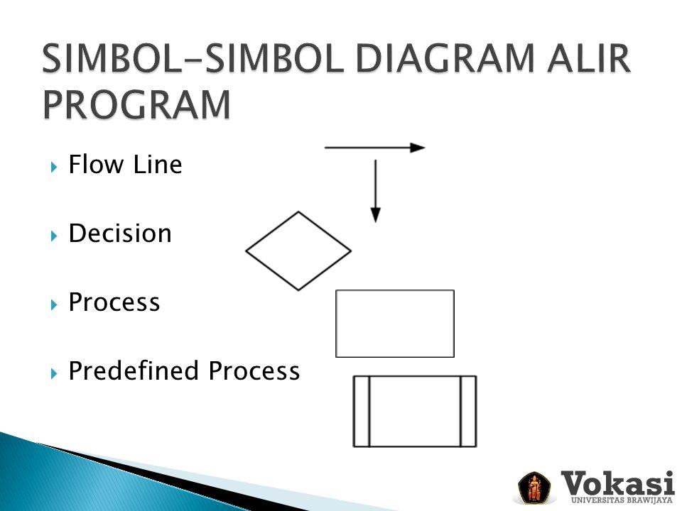  Flow Line  Decision  Process  Predefined Process