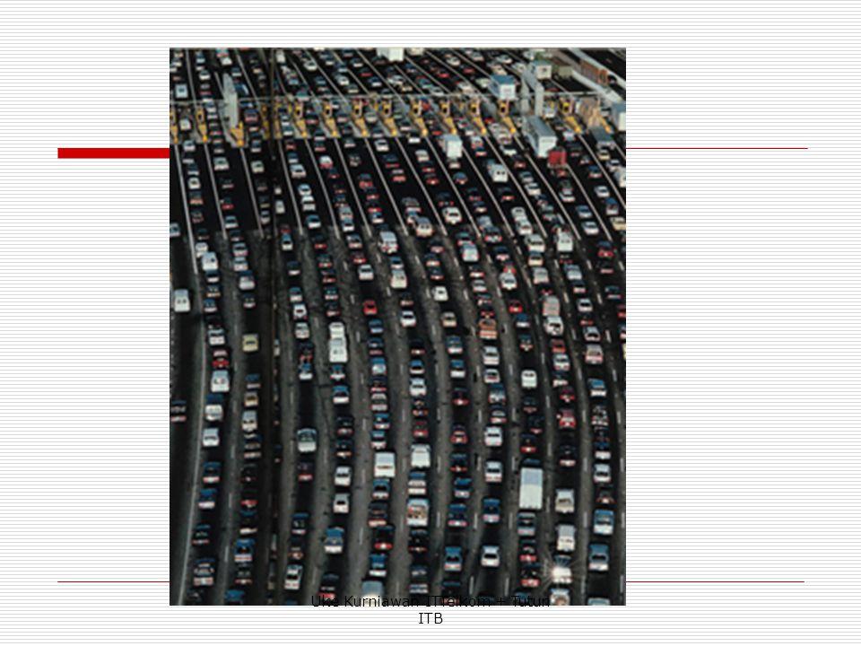  Contoh  Misalkan suatu sentral menerima rata-rata 1800 panggilan baru di dalam selang waktu 1 jam, dan rata-rata waktu pendudukan adalah 3 menit.