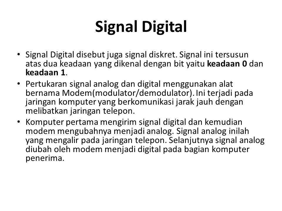 Signal Digital • Signal Digital disebut juga signal diskret.