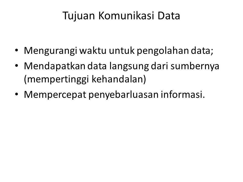 • Mengurangi waktu untuk pengolahan data; • Mendapatkan data langsung dari sumbernya (mempertinggi kehandalan) • Mempercepat penyebarluasan informasi.