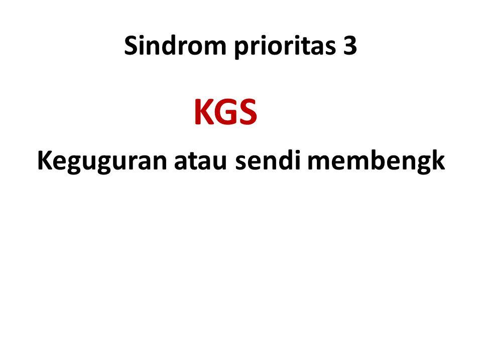 Sindrom prioritas 3 KGS Keguguran atau sendi membengk