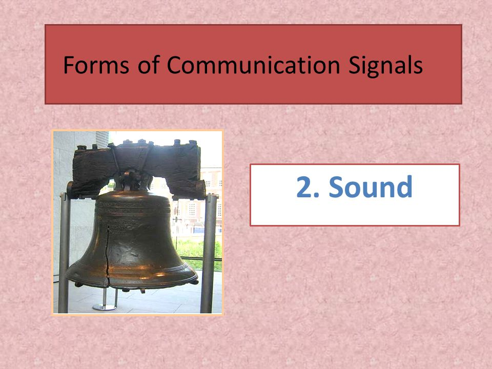 2. Sound Forms of Communication Signals