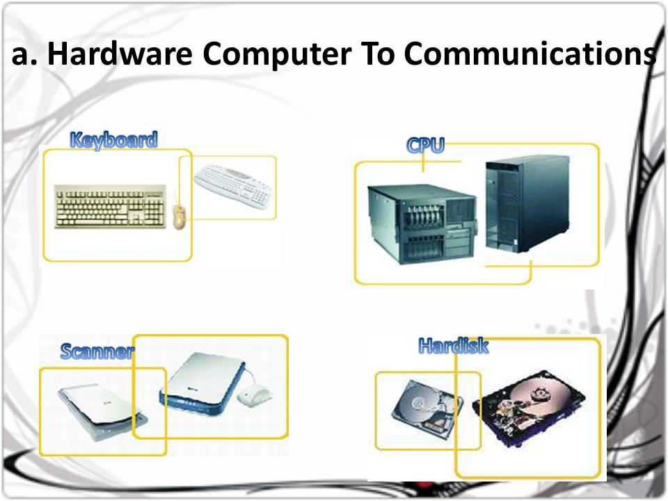 a. Hardware Computer To Communications
