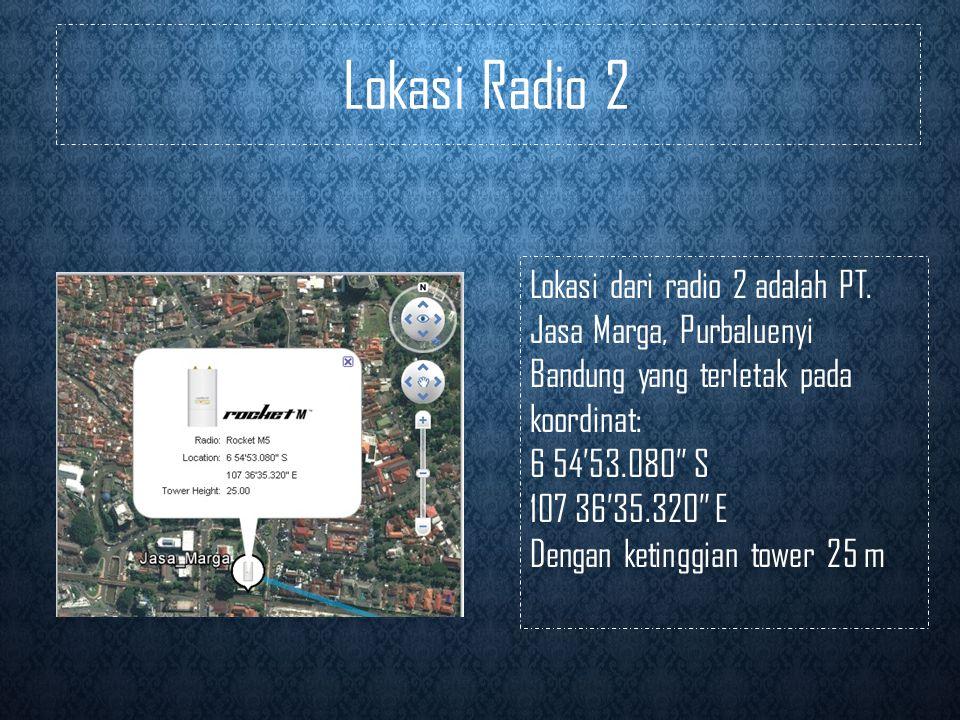 Lokasi Radio 2 Lokasi dari radio 2 adalah PT.