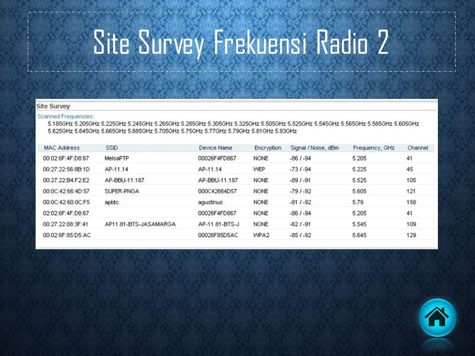 Site Survey Frekuensi Radio 2