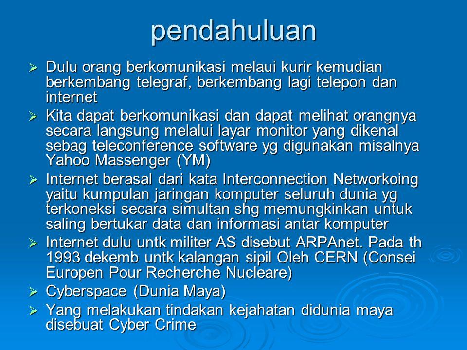 Macam-macam Jaringan komputer  CAN (Controler Area Network)  PAN (Personal Area Network)  LAN (Local Area Network)  WAN (Wide Area Network)  MAN (Metropolitan Area Network)  Jaringan Internet