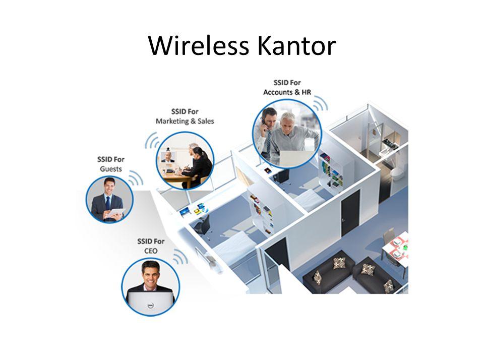 Ruangan Kantor • Memungkinkan untuk membangun arsitektur rapi dan hemat biaya • Hemat tempat • Dalam kesibukan kantor wireless akan dapat menjangkau setiap bagian/sudut ruang kerja.