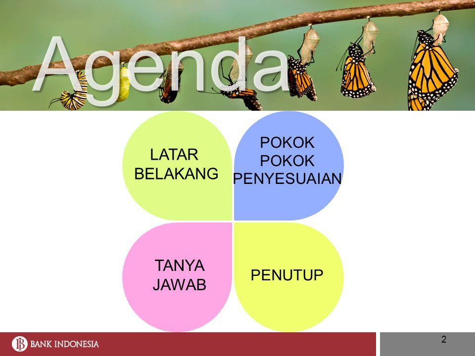 2 Agenda LATAR BELAKANG POKOK PENYESUAIAN TANYA JAWAB PENUTUP