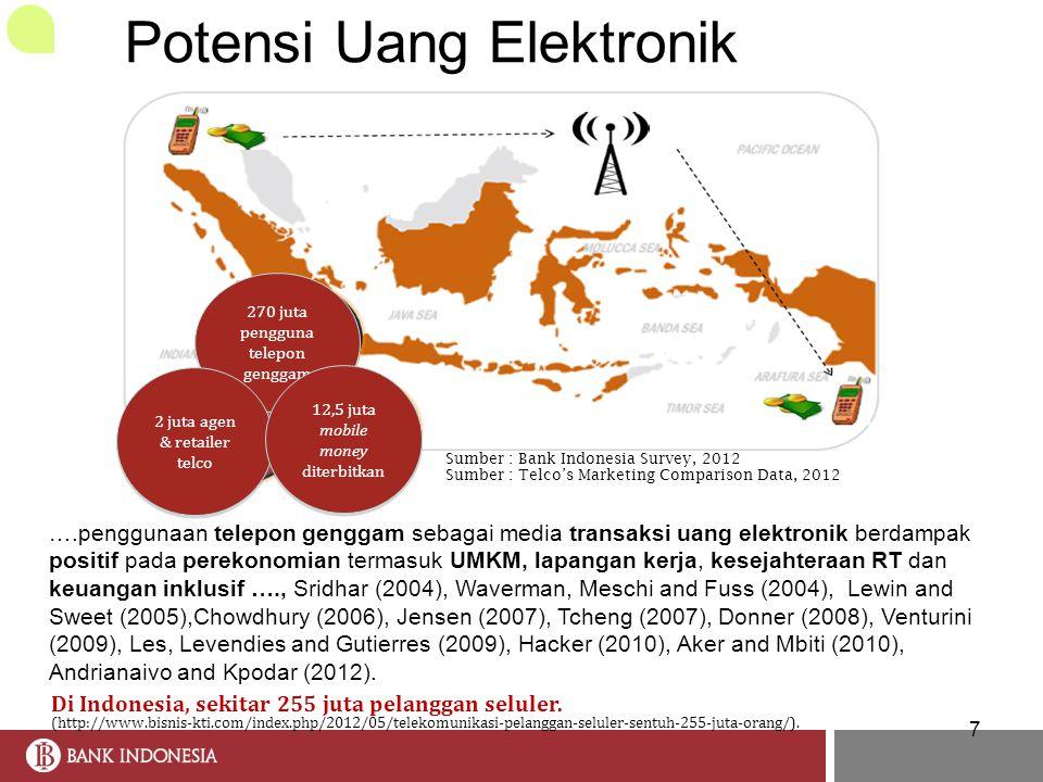 7 Di Indonesia, sekitar 255 juta pelanggan seluler. (http://www.bisnis-kti.com/index.php/2012/05/telekomunikasi-pelanggan-seluler-sentuh-255-juta-oran