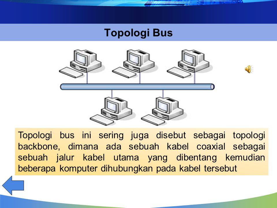 Jaringan Jaringan Dilihat dari Segi Design/Topologi Jaringan Jaringan Dilihat dari Segi Design/Topologi BUS STAR RING