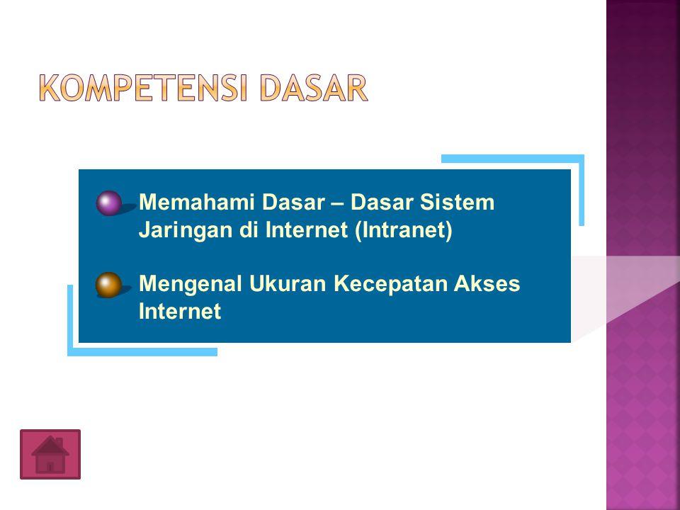 Memahami Dasar – Dasar Sistem Jaringan di Internet (Intranet) Mengenal Ukuran Kecepatan Akses Internet