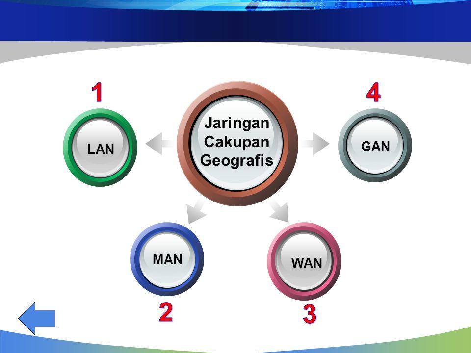 Jaringan Cakupan Geografis GAN WAN LAN MAN