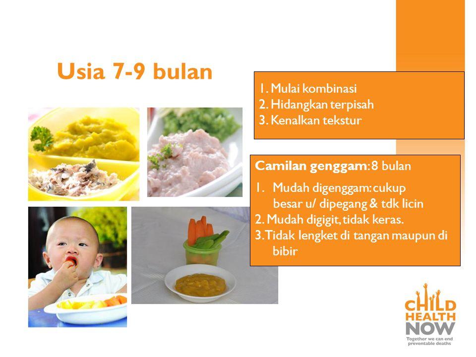 Keuntungan membuat makanan pendamping sendiri: 1.Bahan makanan, rasa, bentuk, tekstur & warna dapat begitu bervariasi  membantu proses perkembangan,