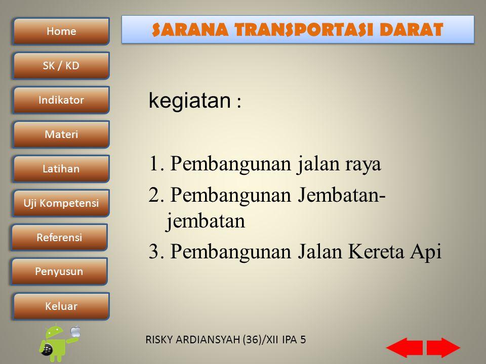Home SK / KDSK / KD Indikator Materi Latihan Uji Kompetensi Penyusun Referensi Keluar RISKY ARDIANSYAH (36)/XII IPA 5 kegiatan : 1.