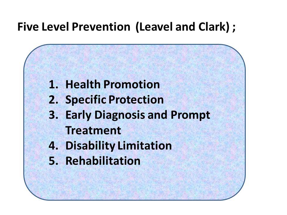 Kerangka Promosi Kesehatan Bidang kegiatan promosi kesehatan Program pendidikan kesehatan (primer, sekunder, tersier) Tindakan kesehatan environmental Pengembangan Organisasi Kegiatan berbasis pada masyarakat Pelayanan Kesehatan Preventif Kegiatan ekonomi dan peraturan