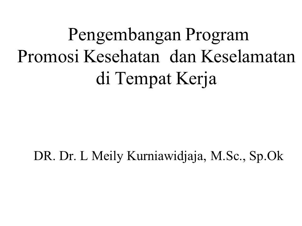 Pengembangan Program Promosi Kesehatan dan Keselamatan di Tempat Kerja DR. Dr. L Meily Kurniawidjaja, M.Sc., Sp.Ok