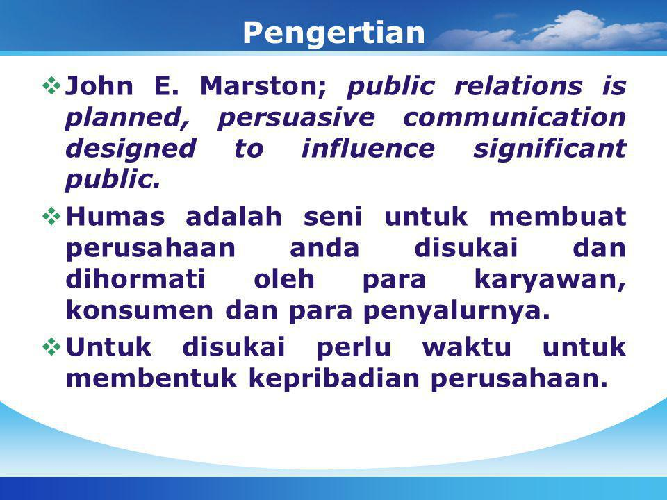 Pengertian  John E.