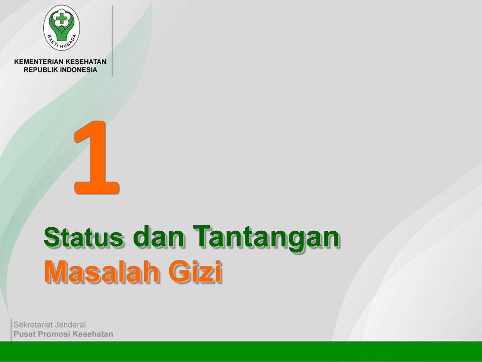 1 1 Status dan Tantangan Masalah Gizi Status dan Tantangan Masalah Gizi