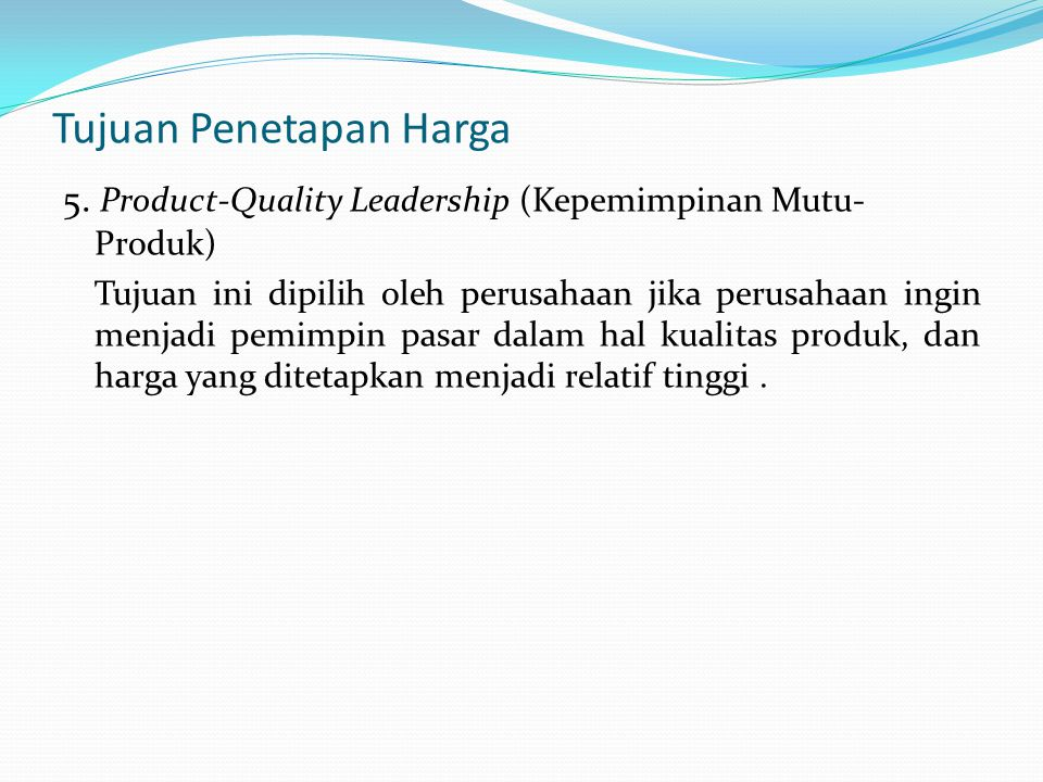 Penetapan Tarif Kamar Hotel Menurut Oka A.Yoeti (1997:104) : a.