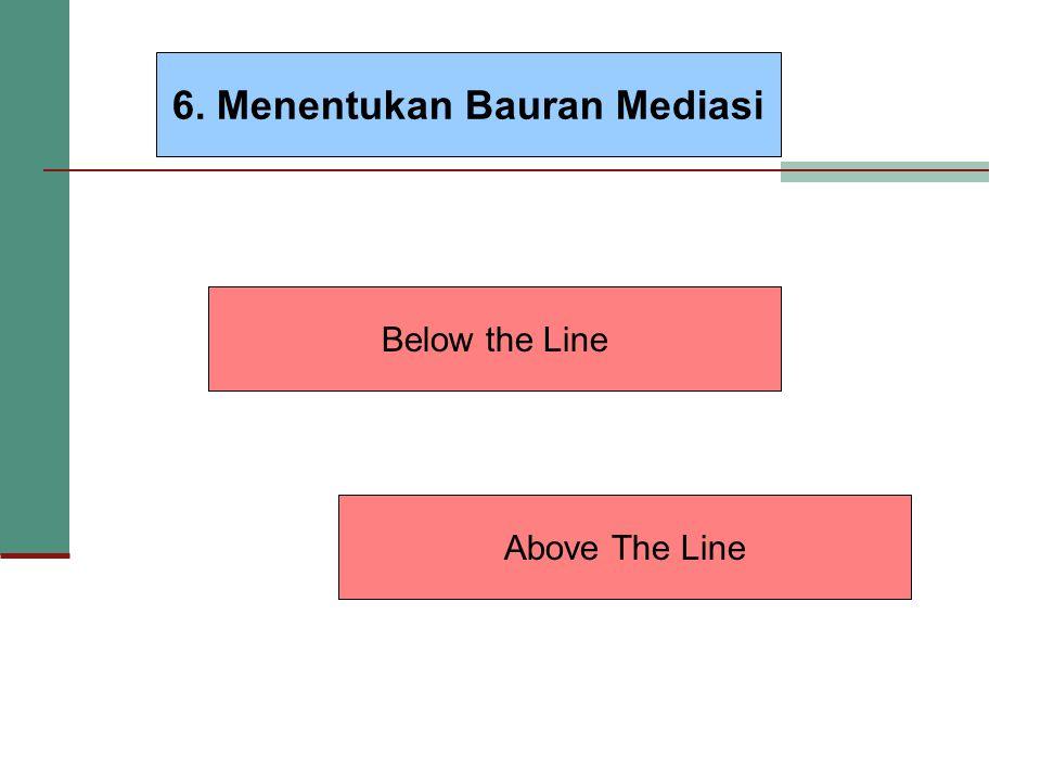 6. Menentukan Bauran Mediasi Below the Line Above The Line