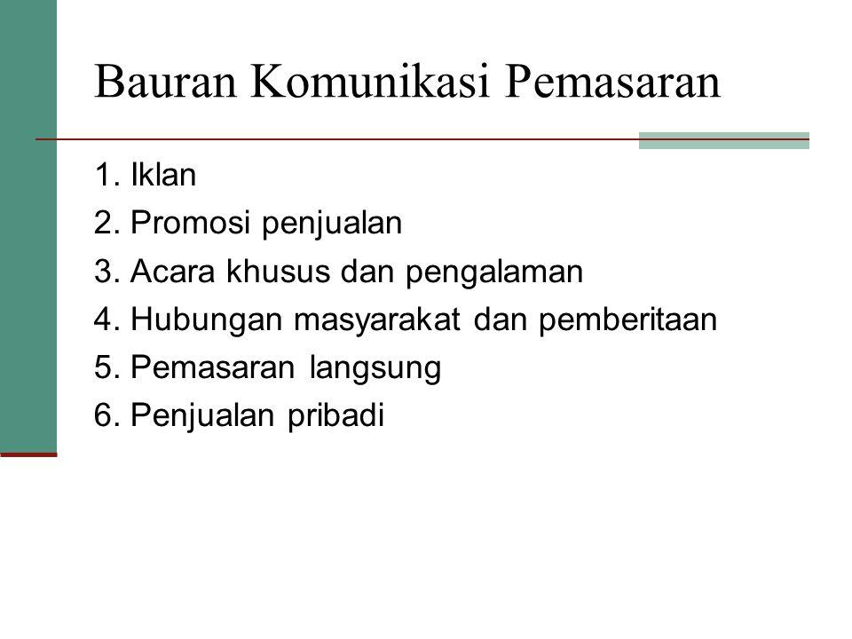 PUBLIC RELATION ( Humas) Berbagai program yang dirancang untuk mempromosikan atau melindungi citra perusahaan atau produk individu
