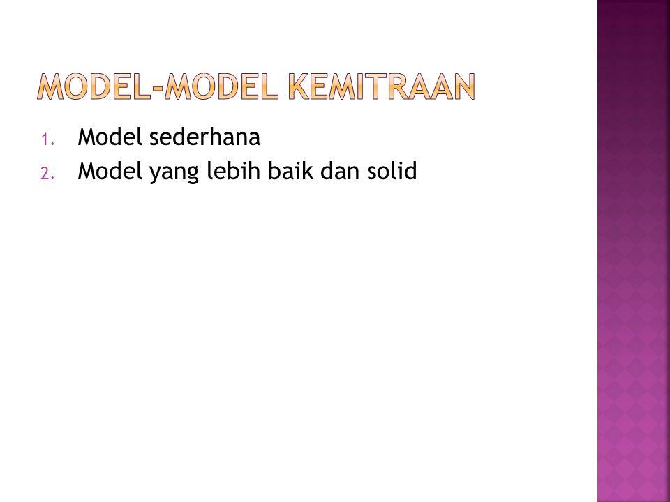 1. Model sederhana 2. Model yang lebih baik dan solid
